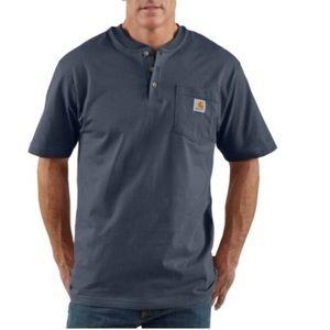 Carhartt Original Henley Short Sleeve Blue Shirt